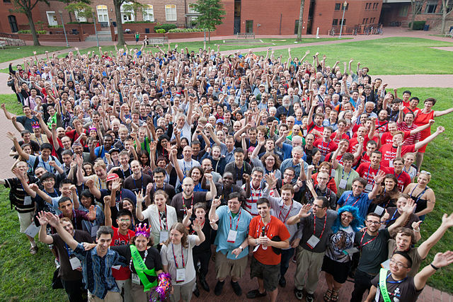 Wikimania 2012 Group Photograph, by Helpameout, under CC-BY-SA 3.0, available from https://commons.wikimedia.org/wiki/File:Wikimania_2012_Group_Photograph-0001.jpg