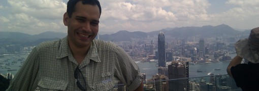 Luis at Victoria Peak, the morning after